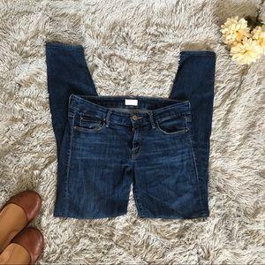 Dark wash skinny jeans. Mother brand